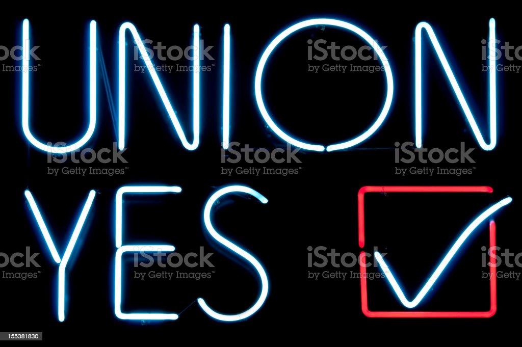 Union Yes stock photo