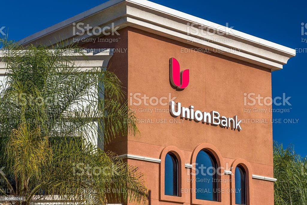 UnionBank Exterior and Logo stock photo