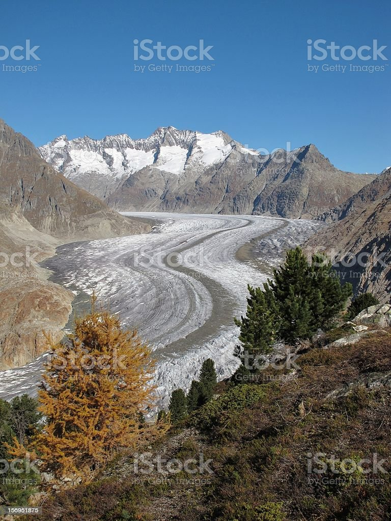 Unique Aletsch Glacier stock photo