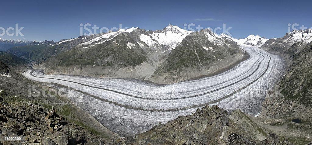 Unique Aletsch Glacier royalty-free stock photo