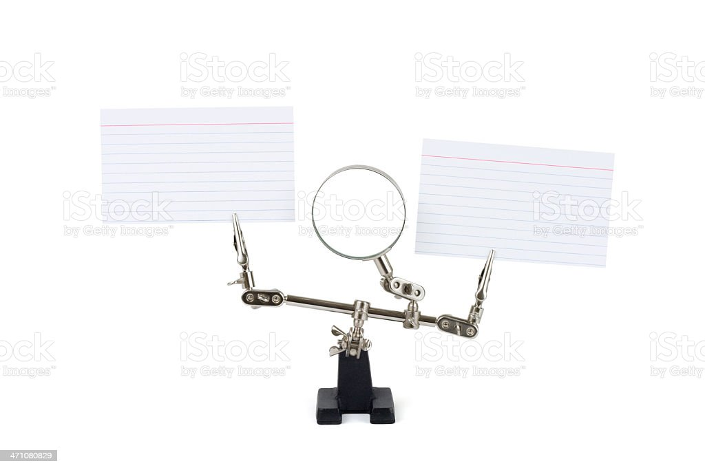 Unique Blank Index Card Display royalty-free stock photo