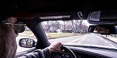 Unique POV Car Driver Perspective Mirror Reflections
