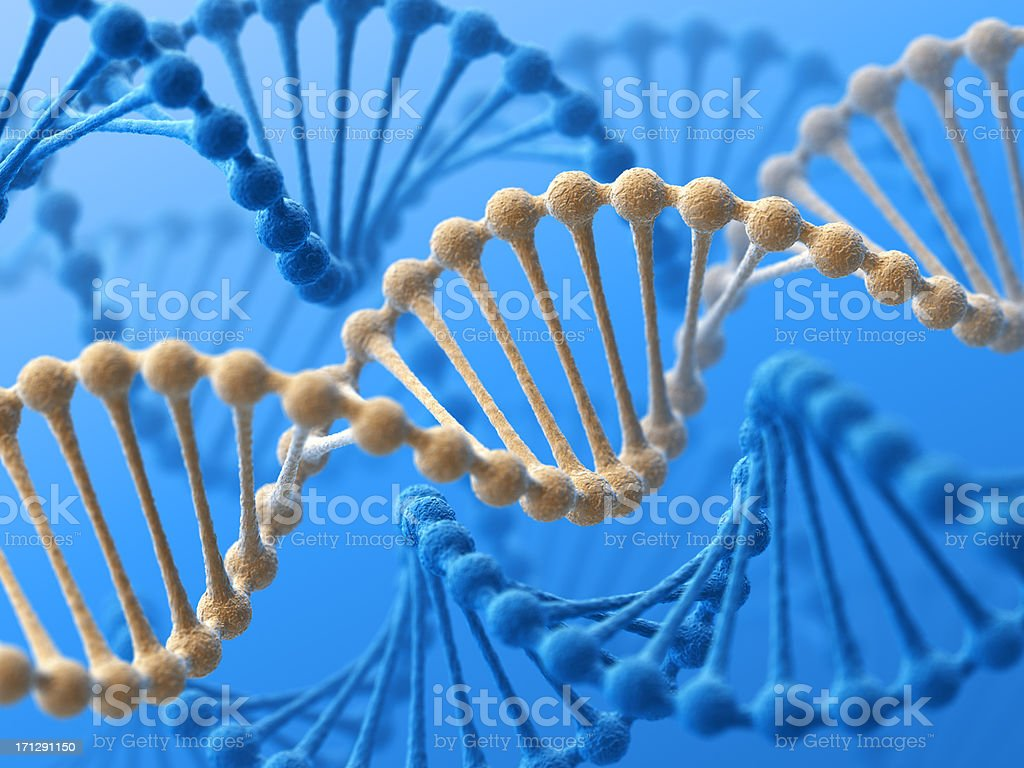 Unique DNA royalty-free stock photo