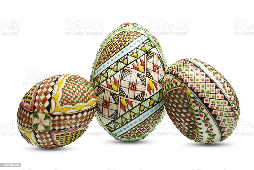 unique easter eggs royalty-free stock photo
