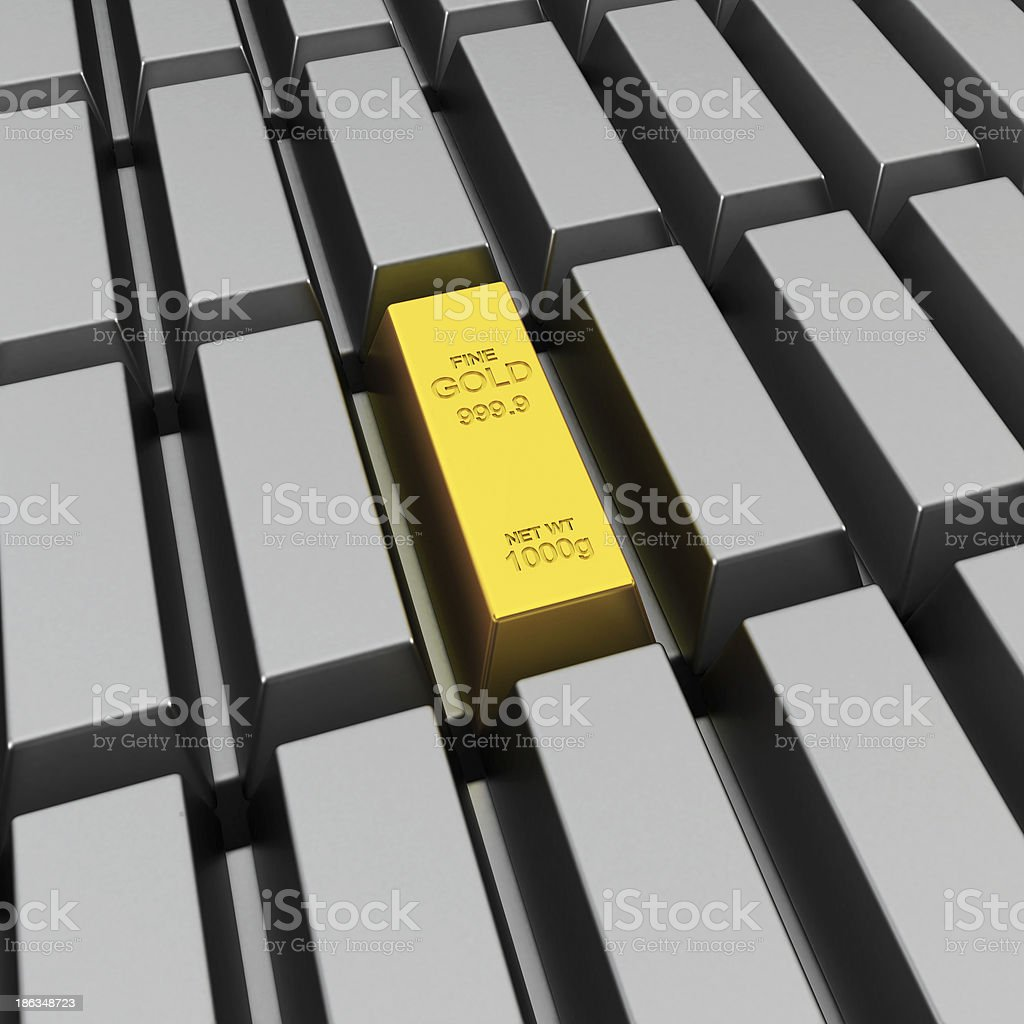 Unique gold bar stock photo