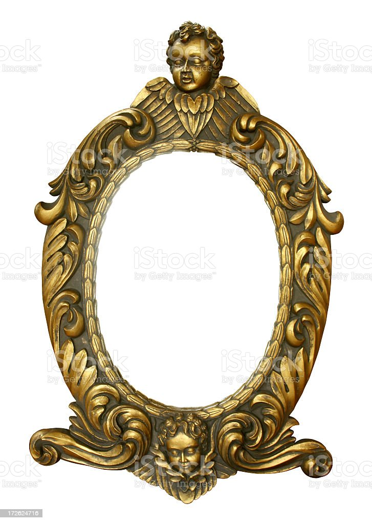 unique golden frame royalty-free stock photo