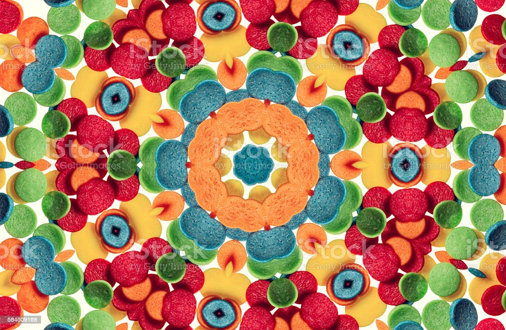 Unique kaleidoscope design stock photo