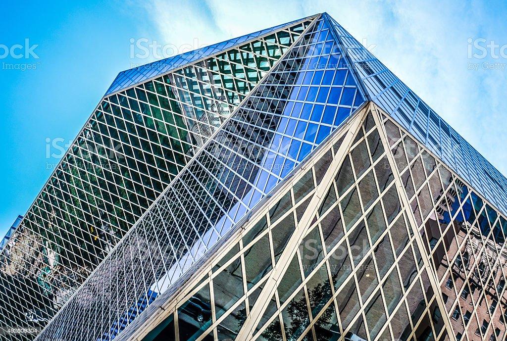Unique modern architecture stock photo