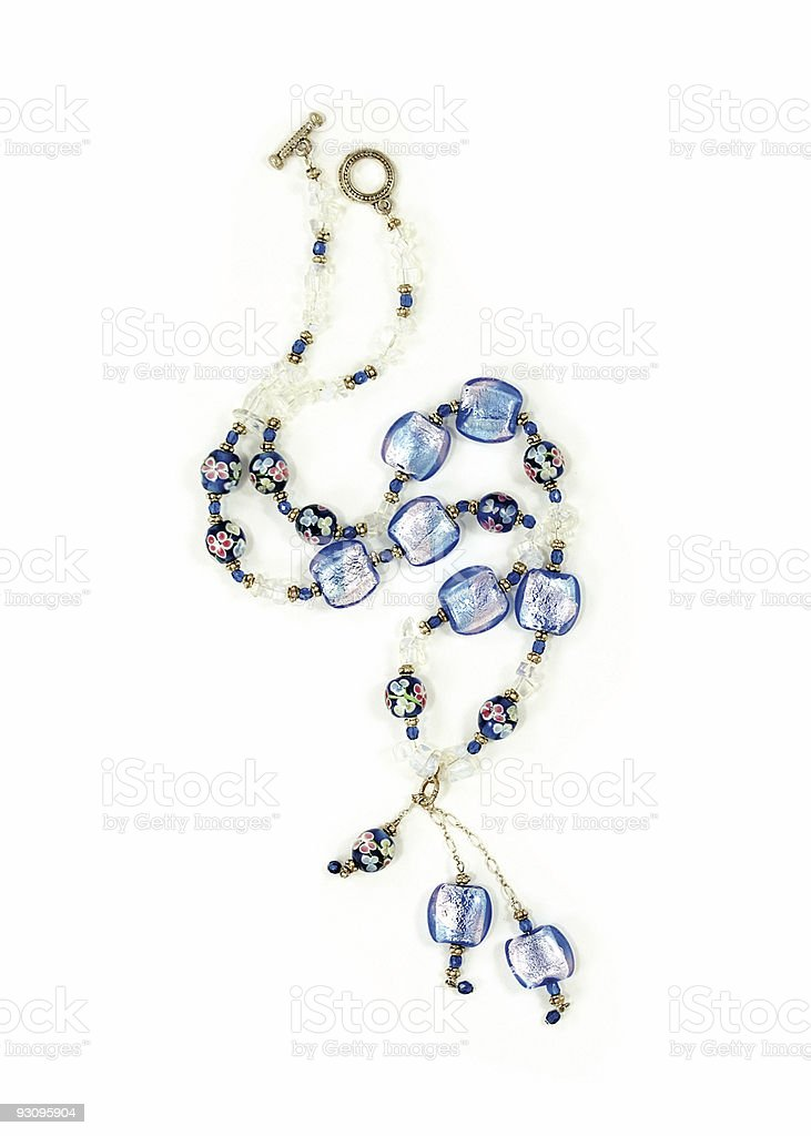 Unique Necklace Isolated on White royalty-free stock photo