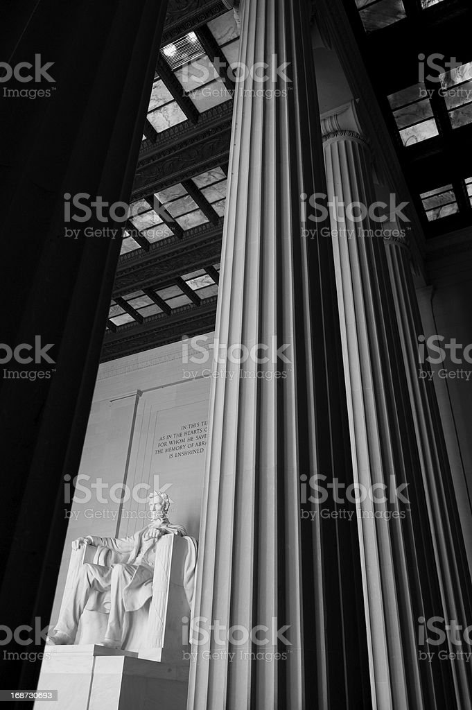 Unique Perspective of Lincoln Memorial royalty-free stock photo