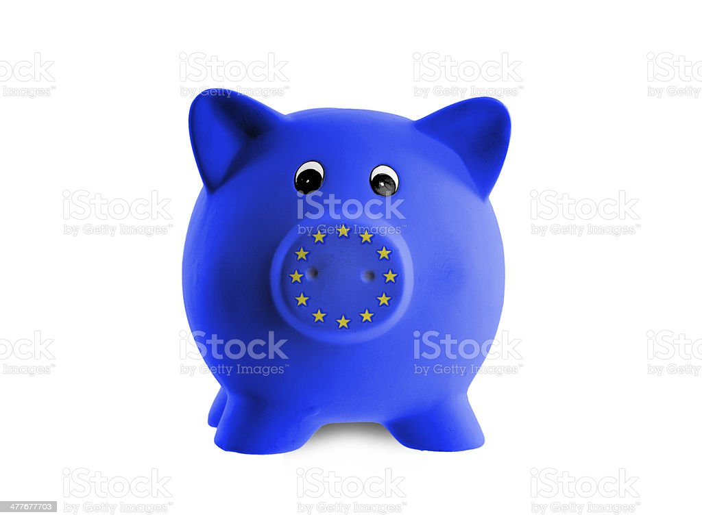 Unique pink ceramic piggy bank royalty-free stock photo