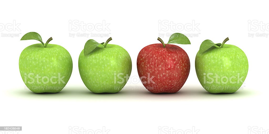 Unique red apple royalty-free stock photo