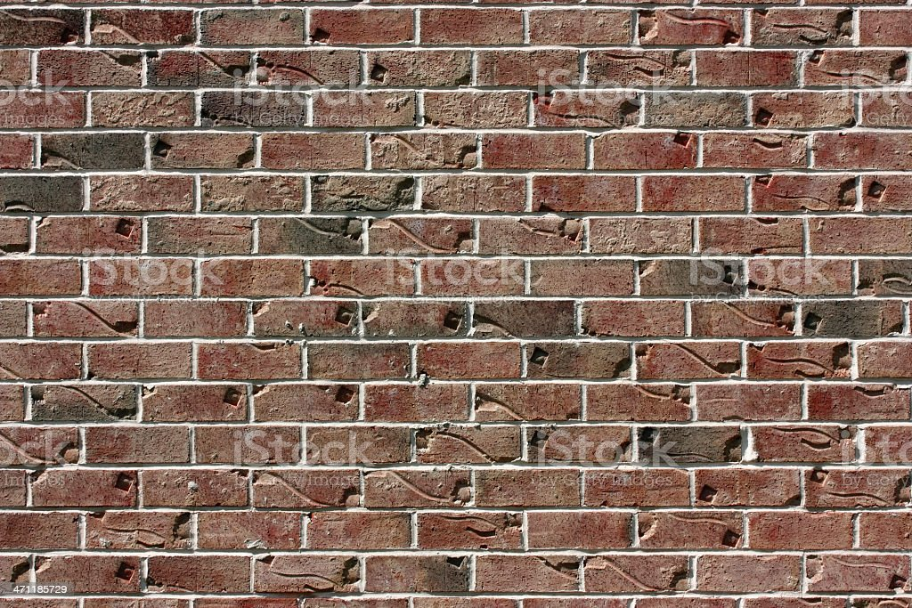 Unique red brick wall background pattern detail wallpaper stock photo