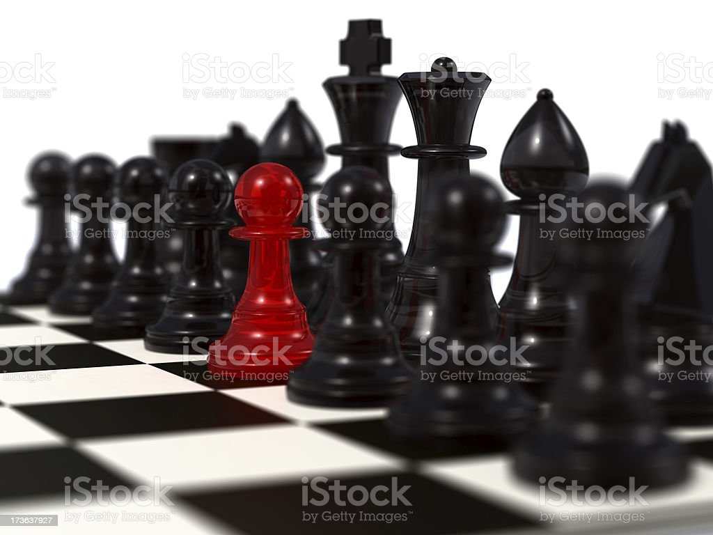 Unique red peon royalty-free stock photo