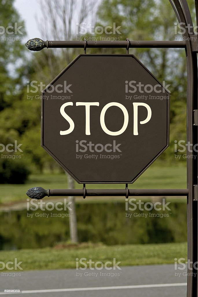 Unique Stop Sign royalty-free stock photo