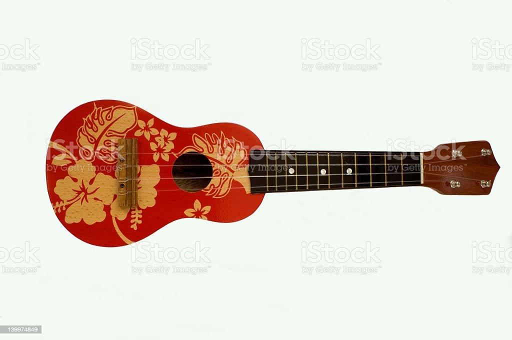 Unique ukulele with beautiful designs stock photo