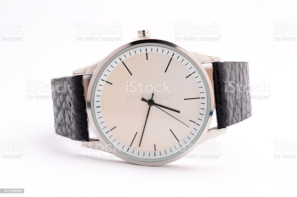 Unisex watches on a white background stock photo