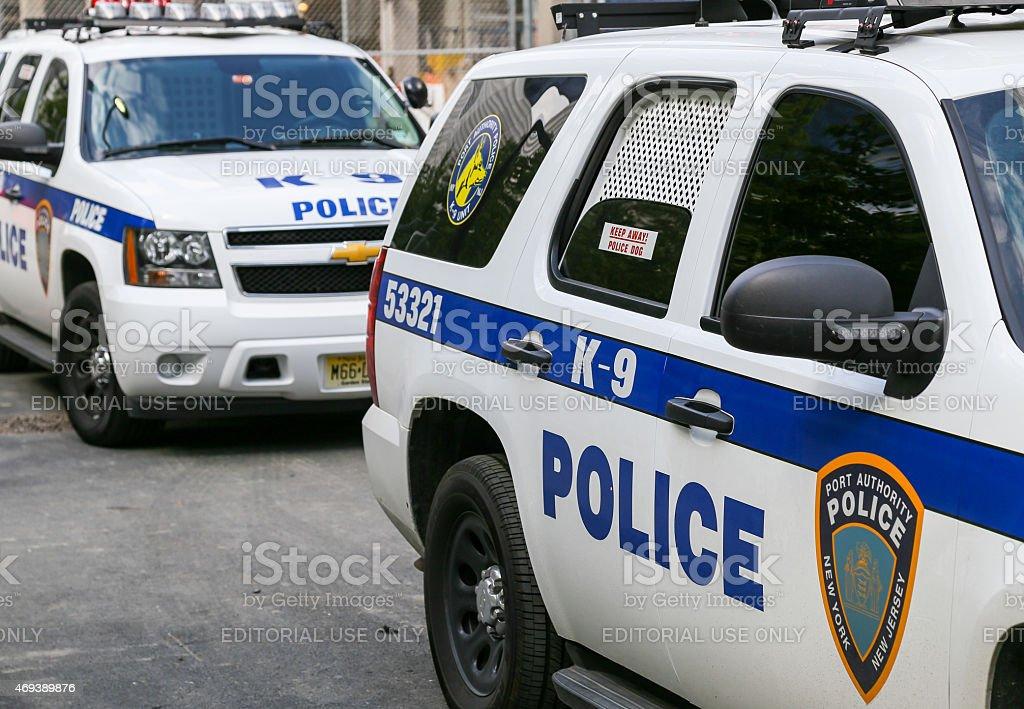 K-9 unit cars in NY stock photo