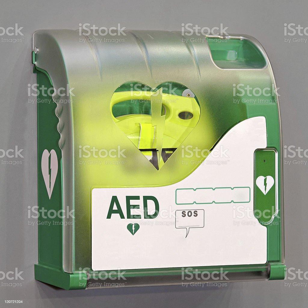 AED unit stock photo