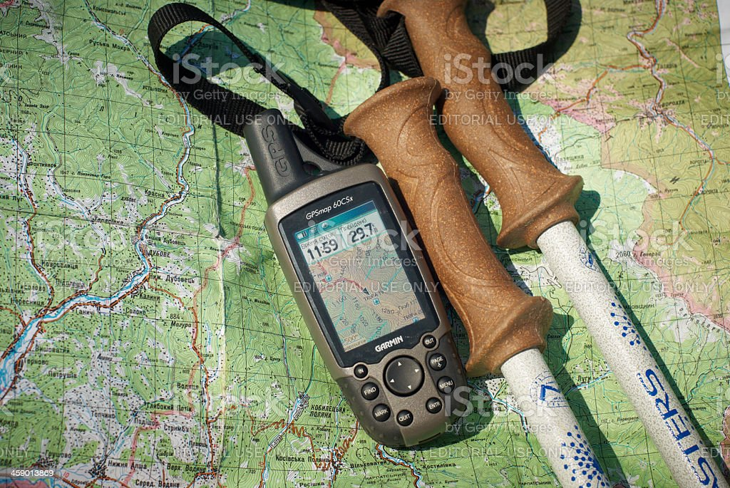 GPS unit stock photo