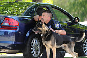 K-9 unit police dog and handler demo