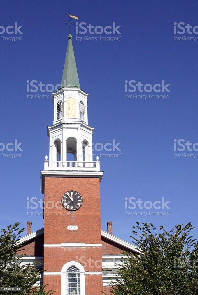 Unitarian Church, Burlington Vermont stock photo