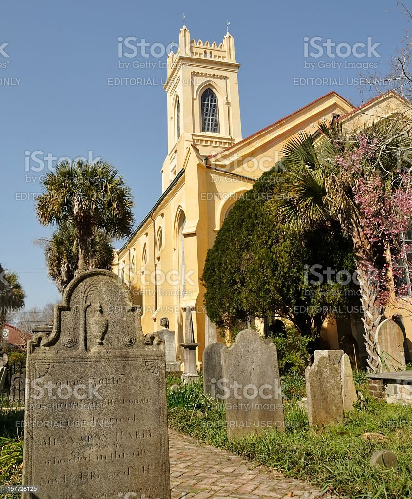 Unitarian Church, Charleston, South Carolina stock photo