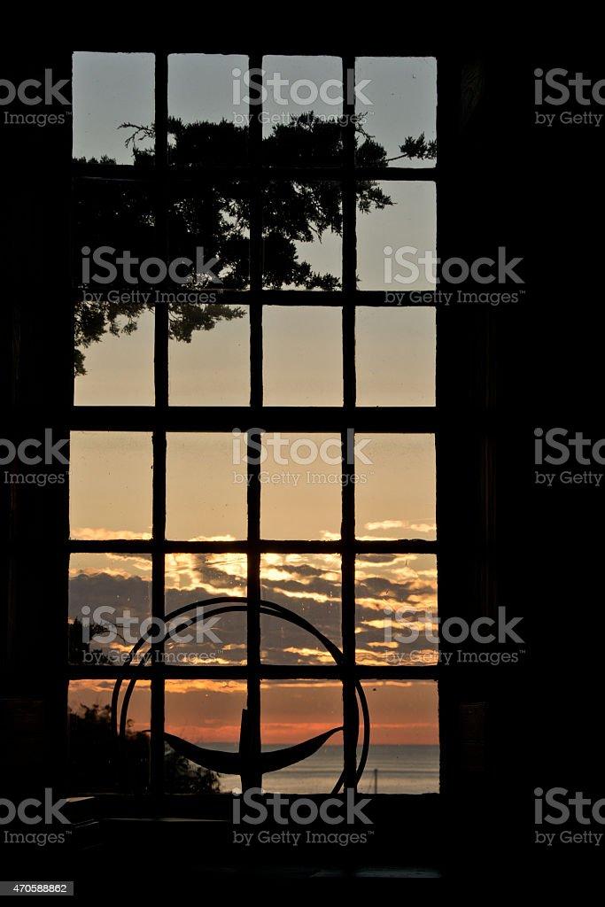 Unitarian Universalist chalice in morning sun stock photo