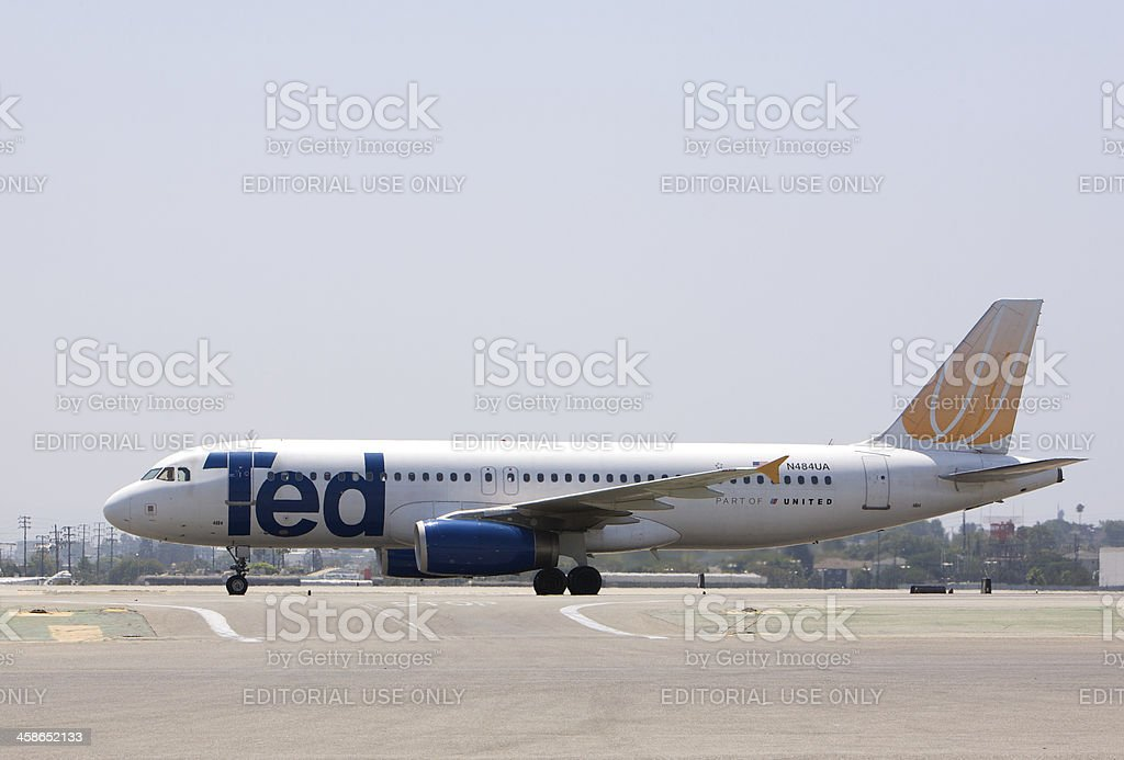 TED, United Airlines Airbus A319 stock photo