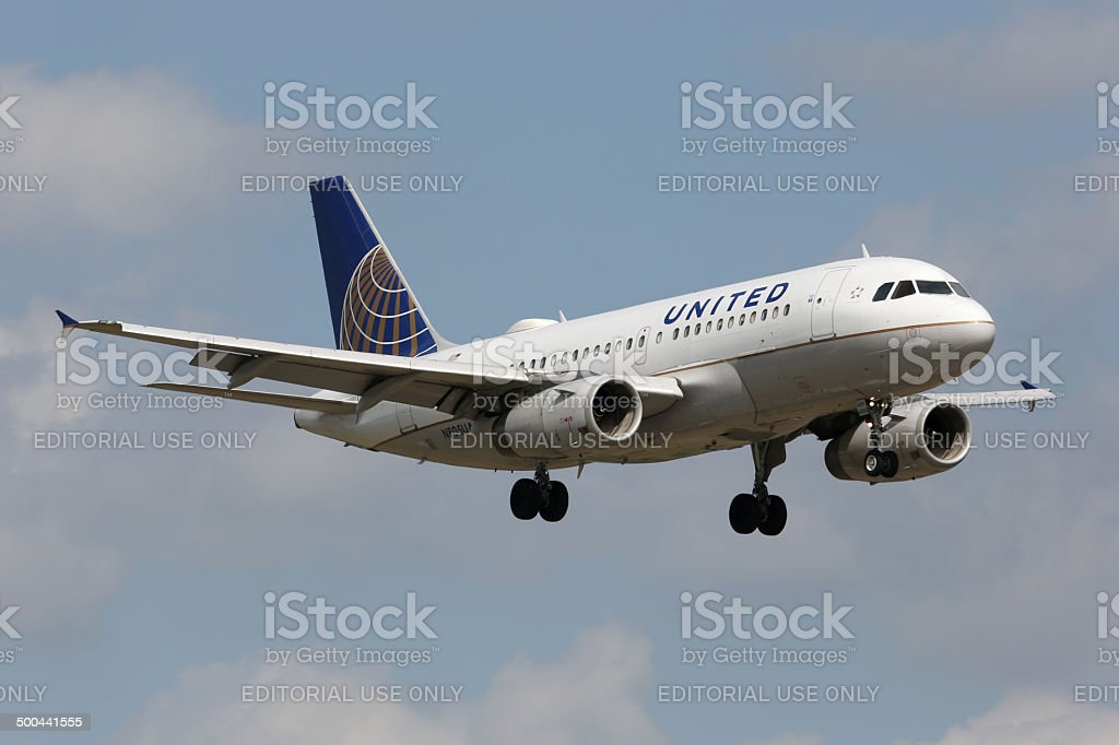 United Airlines Airbus A319 stock photo