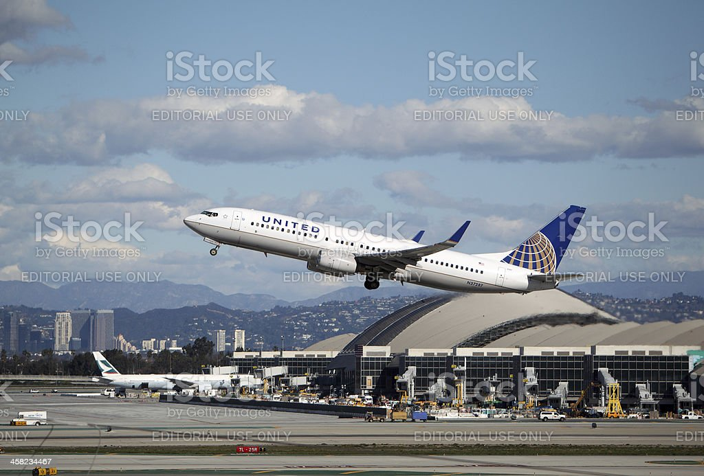 United Airlines Boeing 737-824 royalty-free stock photo
