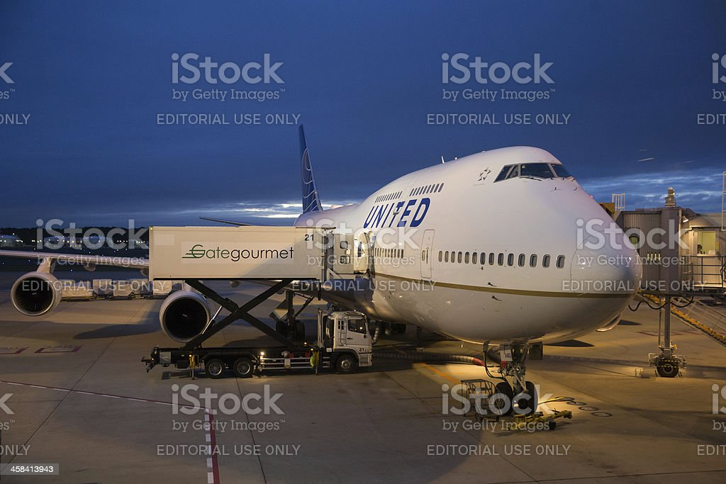 United Airlines Boeing 747-400 royalty-free stock photo