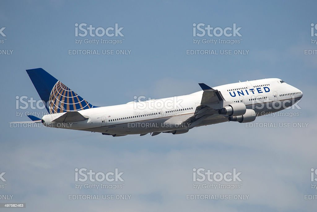United Airlines Boeing 747-400 stock photo