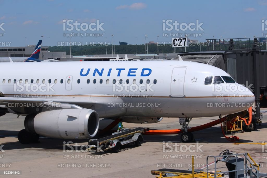 United Airlines stock photo
