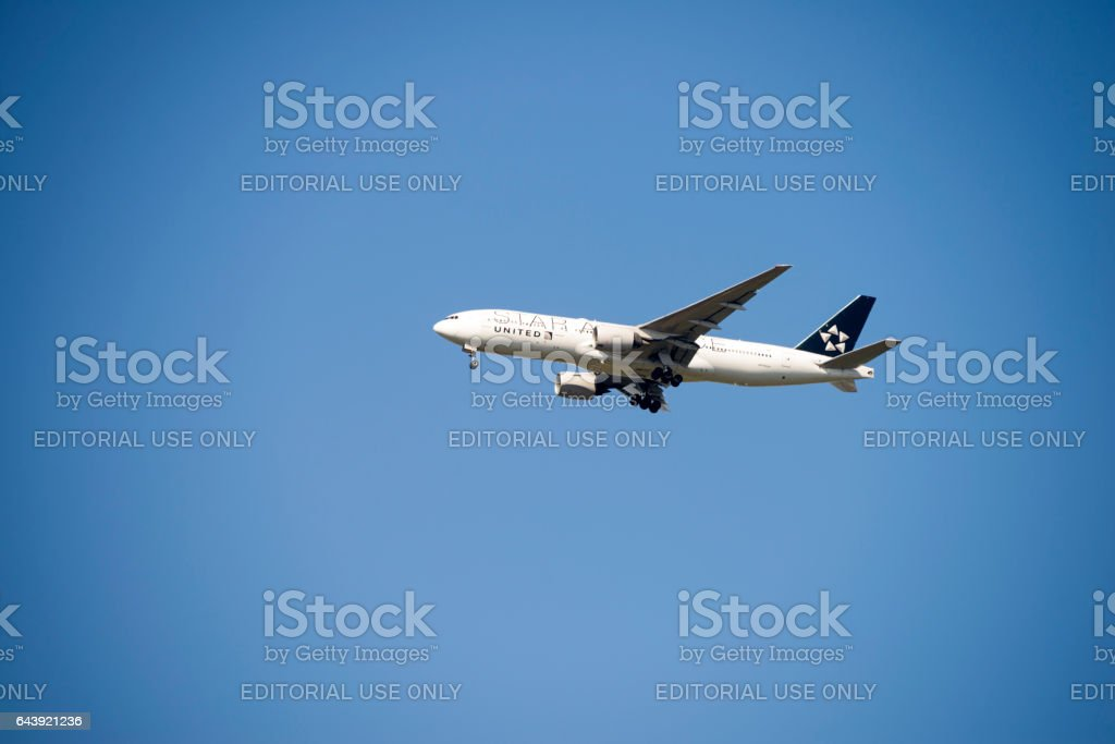 United Airlines Star Alliance Airplane stock photo