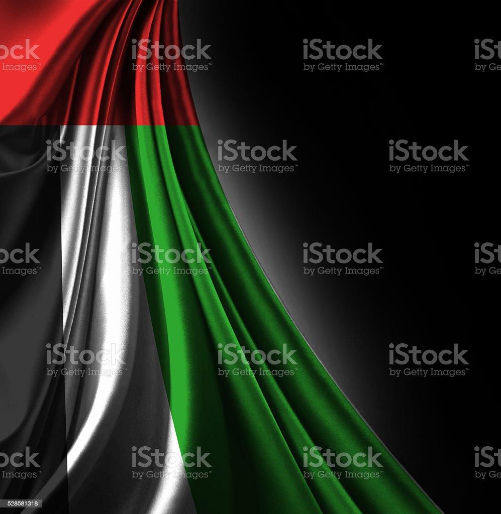 United Arab Emerates Flag stock photo