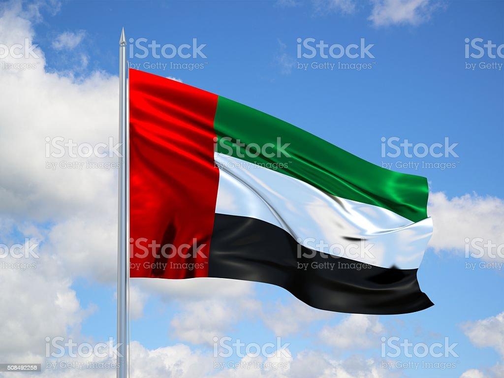 United Arab Emirates 3d flag stock photo
