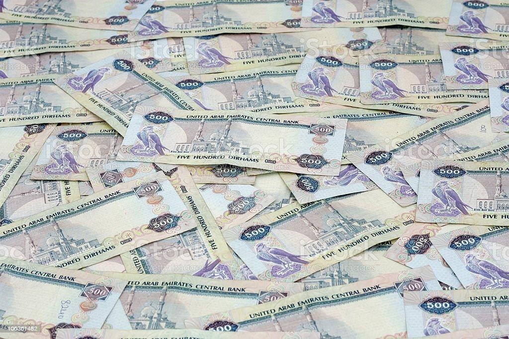 United Arab Emirates 500 Dirham Notes stock photo