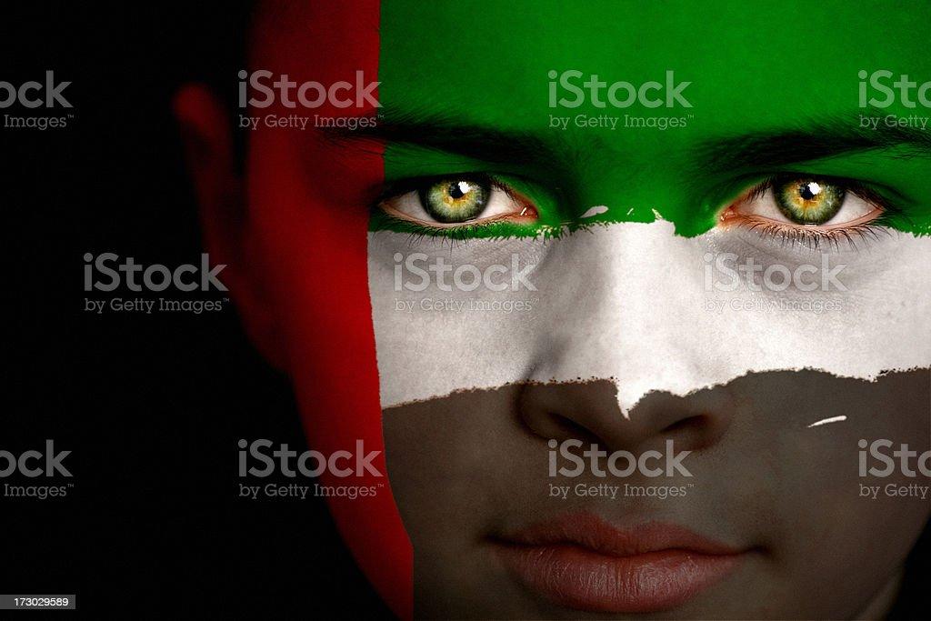 United Arab Emirates boy stock photo