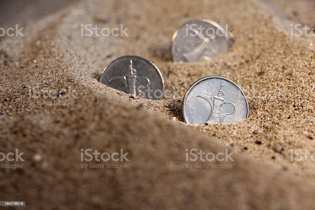United Arab Emirates Coins royalty-free stock photo
