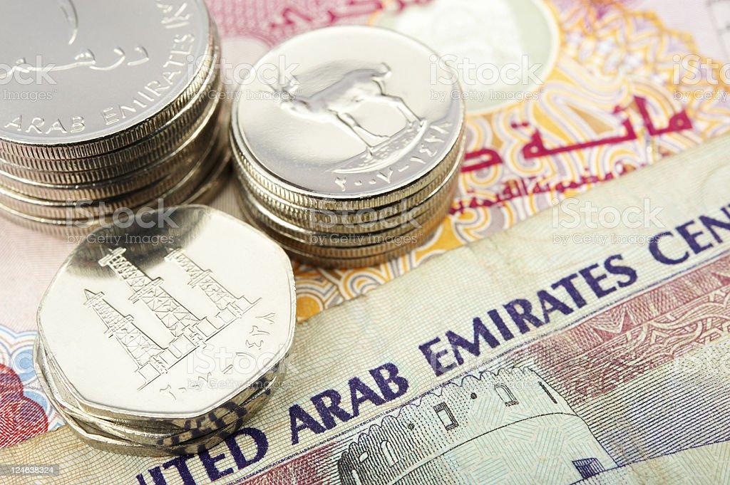 united arab emirates dirham royalty-free stock photo