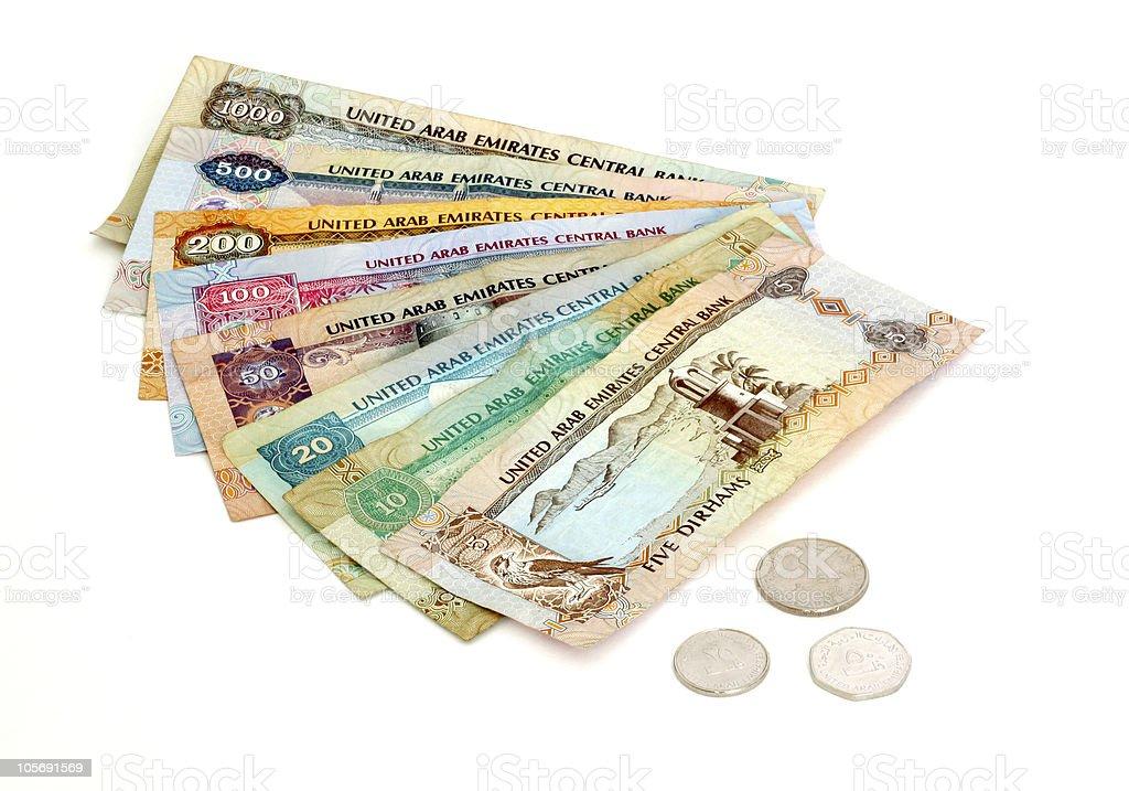 United Arab Emirates Dirhams stock photo