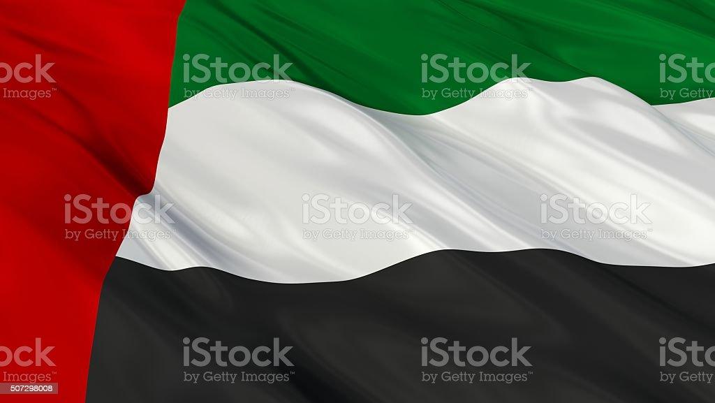 United Arab Emirates Flag. 3d illustration stock photo