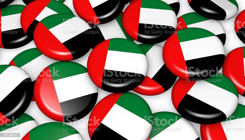United Arab Emirates Flag Badges stock photo