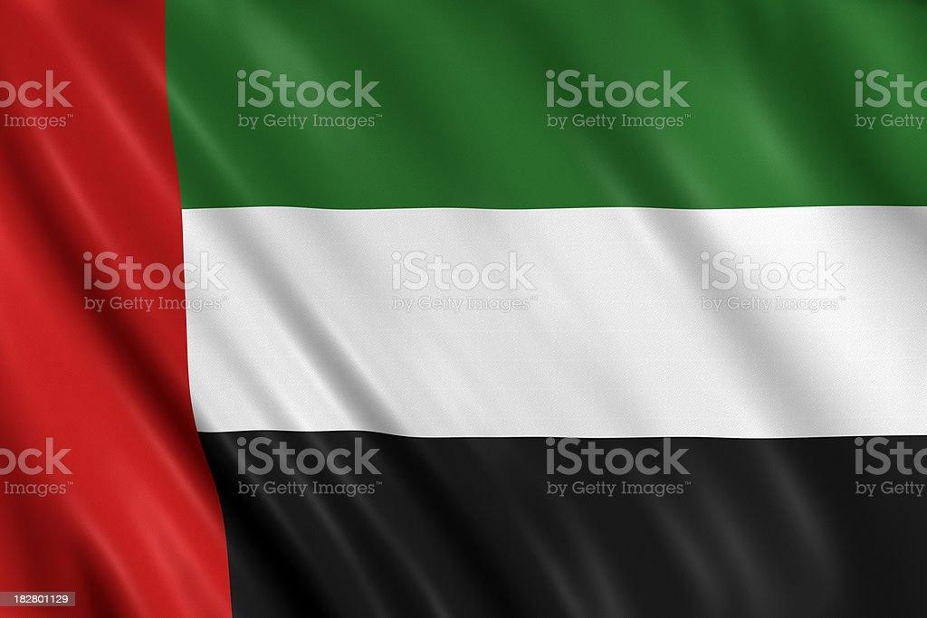 united arab emirates flag stock photo