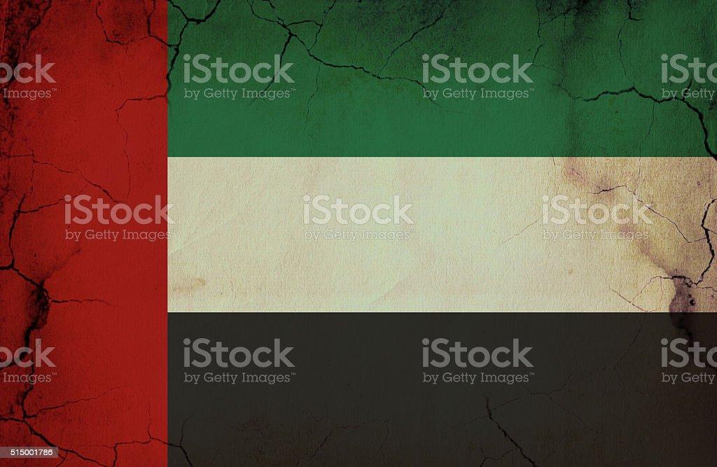 United Arab Emirates grunge flag stock photo
