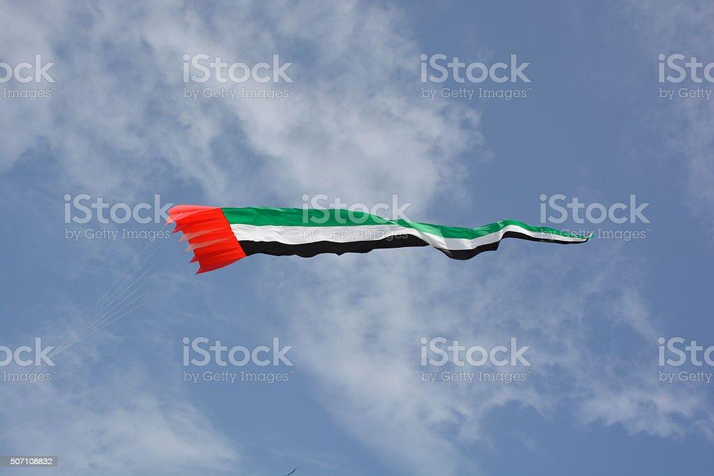 united arab emirates kite Flag stock photo