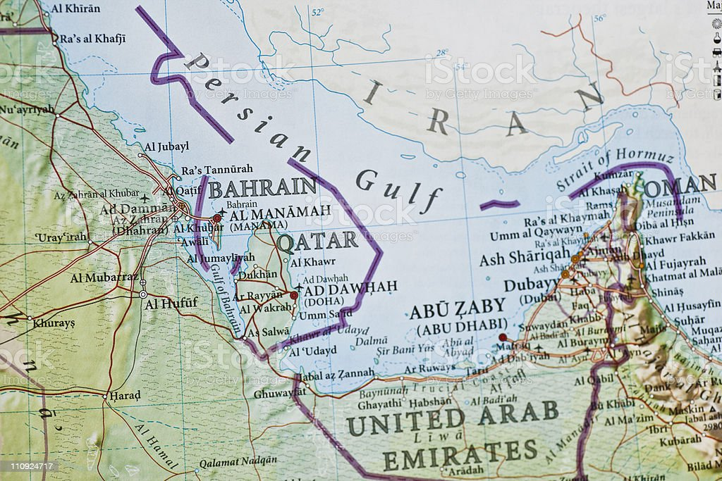 United Arab Emirates map stock photo