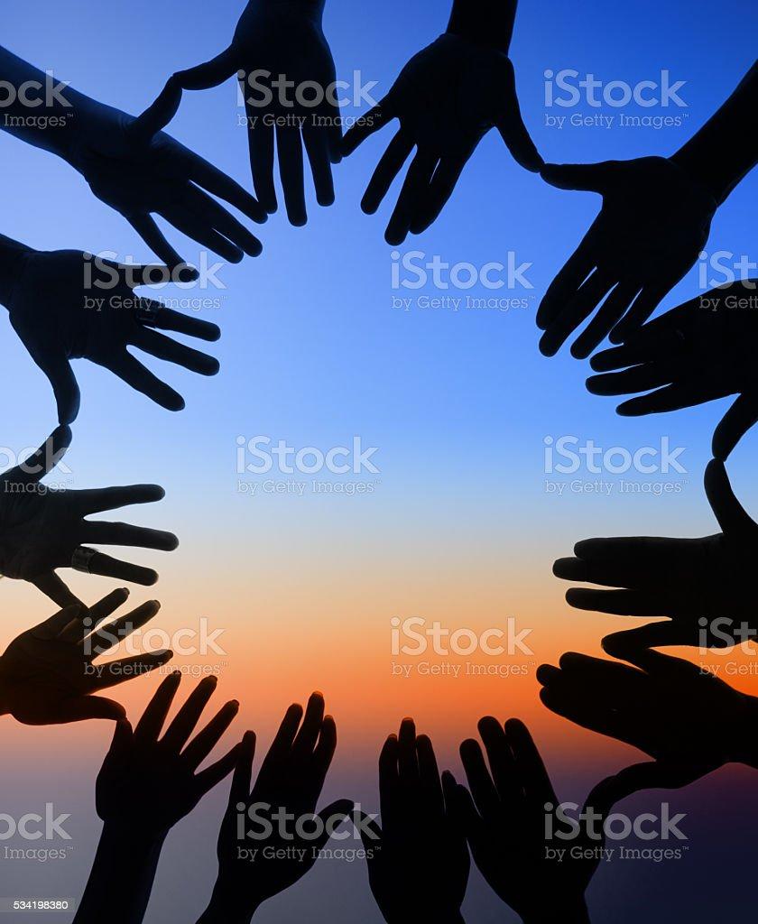 United around every horizon stock photo