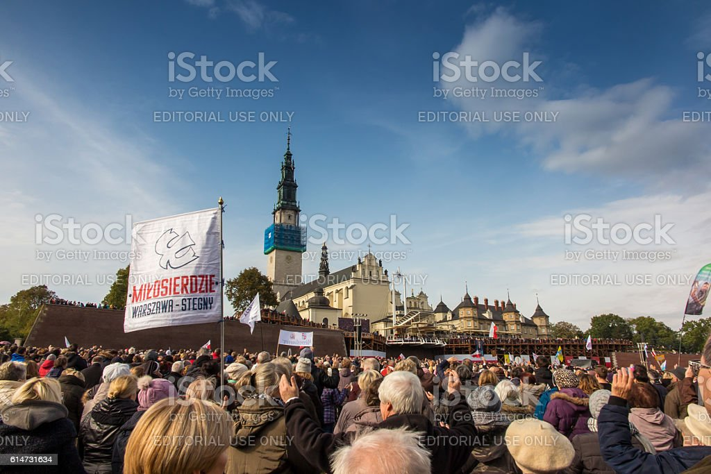 United Atonement, all-day prayer meeting people from all over Polish, stock photo